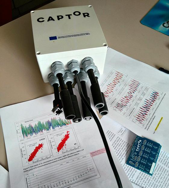 Uno de los dispositivos sensores desarrollados en el proyecto.